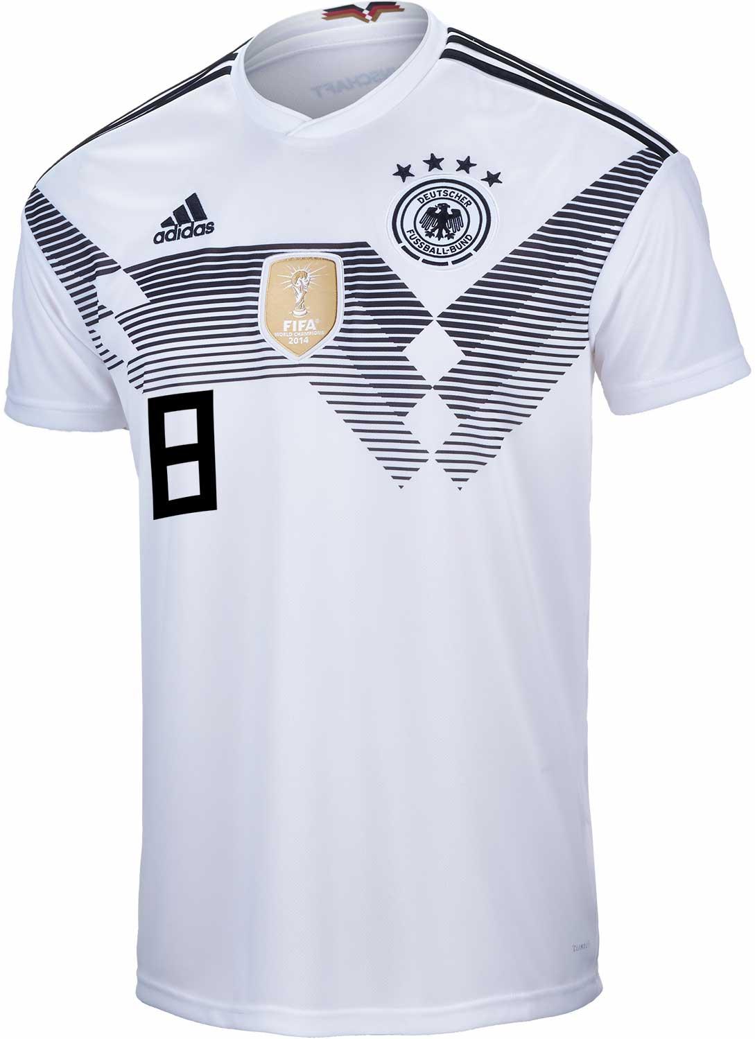buy popular 0d19f c2e45 adidas Kids Toni Kroos Germany Home Jersey 2018-19 - SoccerPro