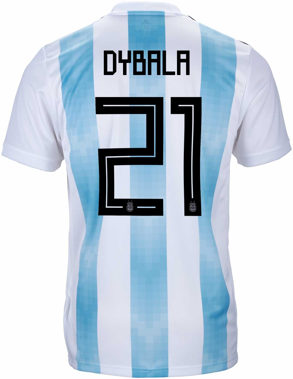 brand new b843b 080ee adidas Paulo Dybala Argentina Home Jersey 2018-19 - SoccerPro
