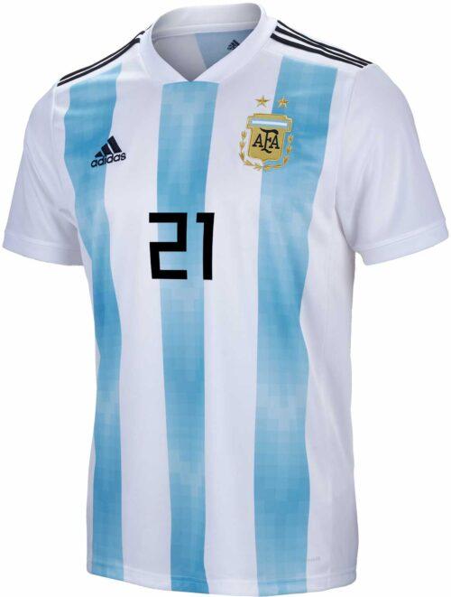 adidas Paulo Dybala Argentina Home Jersey 2018-19