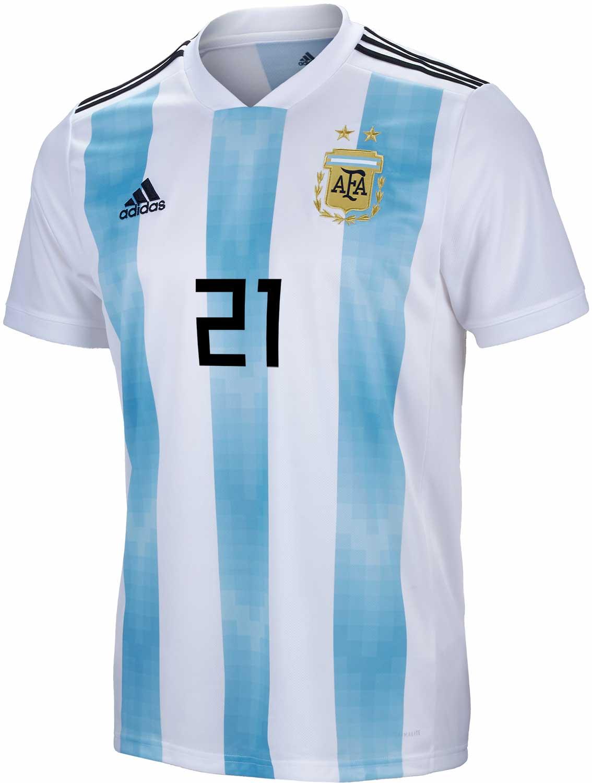 398e452a5fd adidas Paulo Dybala Argentina Home Jersey 2018-19 - SoccerPro