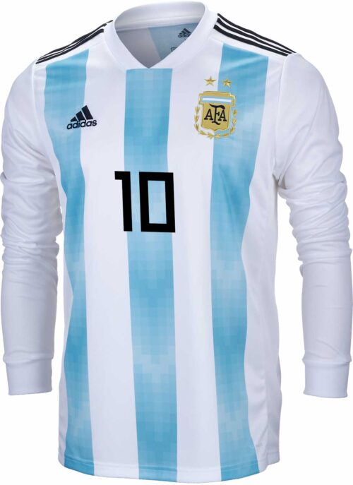 adidas Lionel Messi Argentina L/S Home Jersey 2018-19