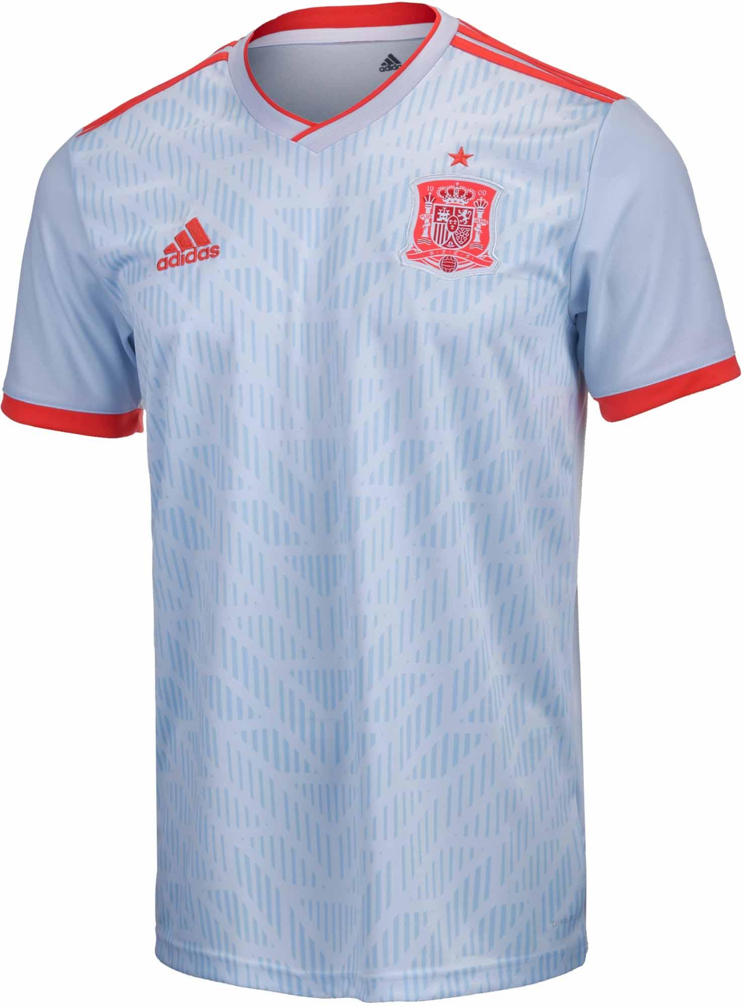 6adee471e5bd3 adidas Kids Spain Away Jersey 2018-19 - SoccerPro.com