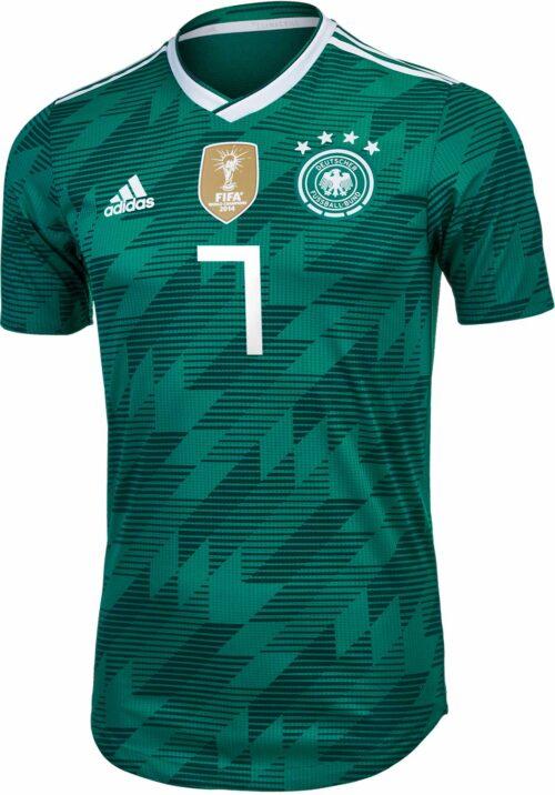 adidas Julian Draxler Germany Away Authentic Jersey 2018-19