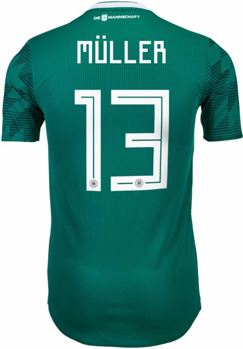 adidas Thomas Muller Germany Away Authentic Jersey 2018-19