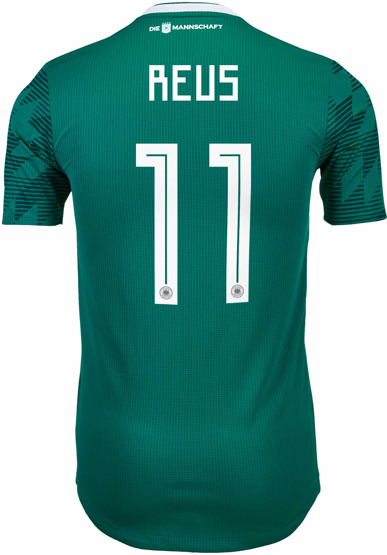 adidas Marco Reus Germany Away Authentic Jersey 2018-19 - SoccerPro