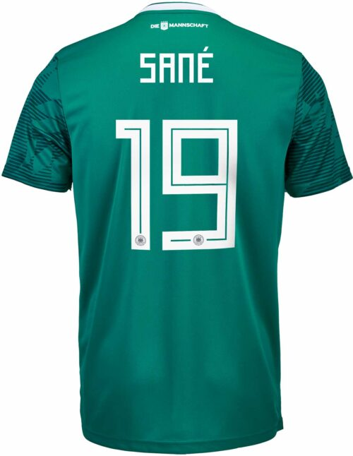 adidas Kids Leroy Sane Germany Away Jersey 2018-19