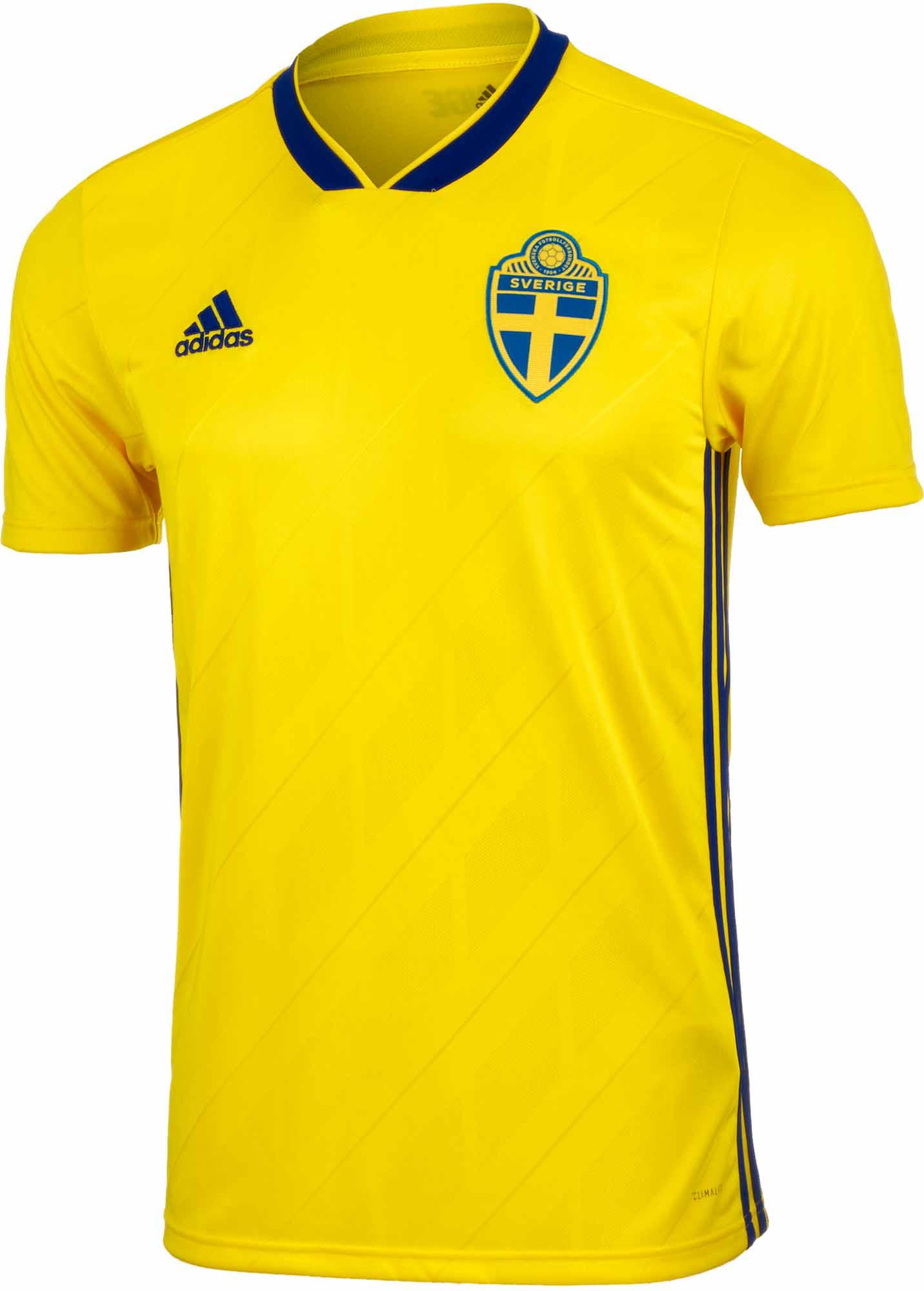 adidas Sweden Home Jersey 2018-19 - SoccerPro