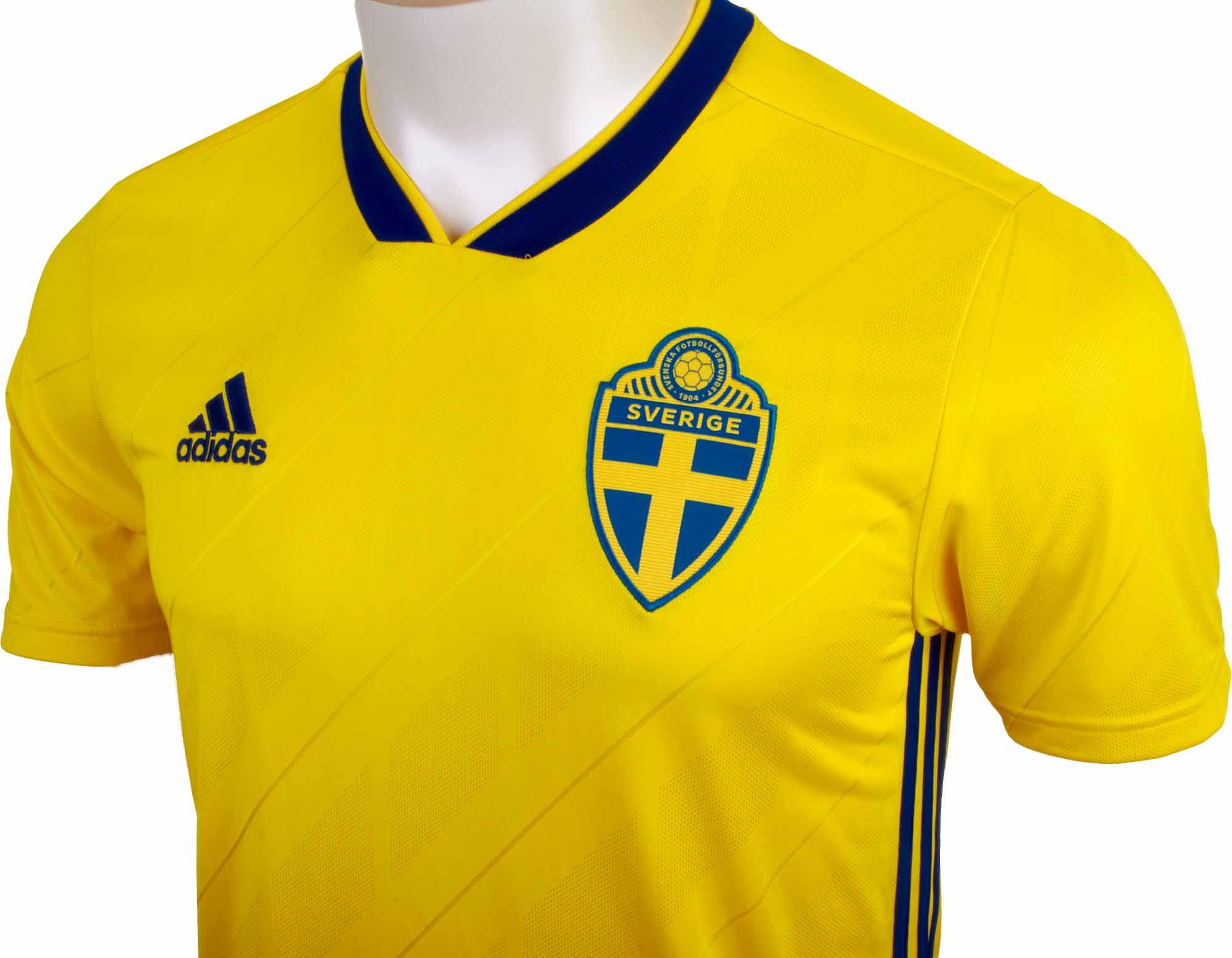6440a2fe458 adidas Sweden Home Jersey 2018-19 - SoccerPro
