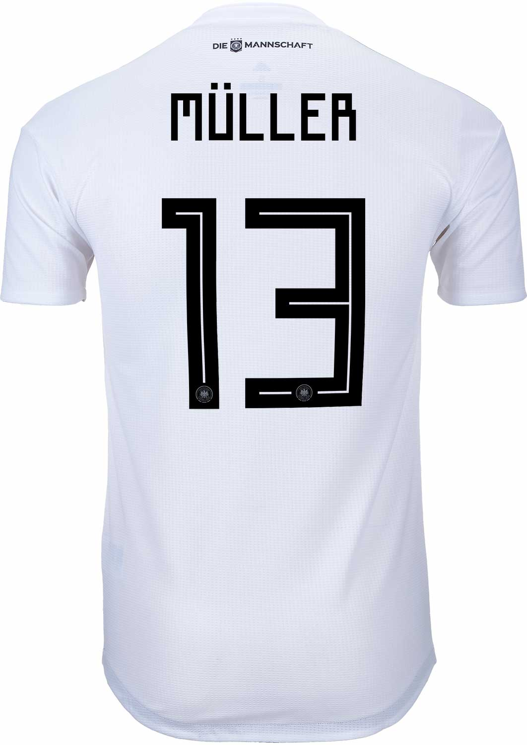 e9ca093b8f6 adidas Thomas Muller Germany Authentic Home Jersey 2018-19 - SoccerPro