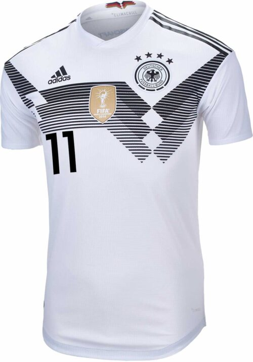 adidas Marco Reus Germany Authentic Home Jersey 2018-19