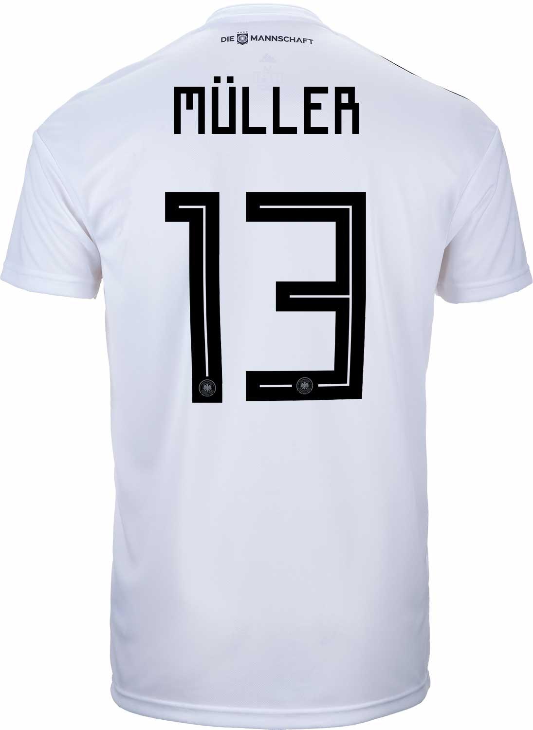 adidas Thomas Muller Germany Home Jersey 2018-19 - SoccerPro