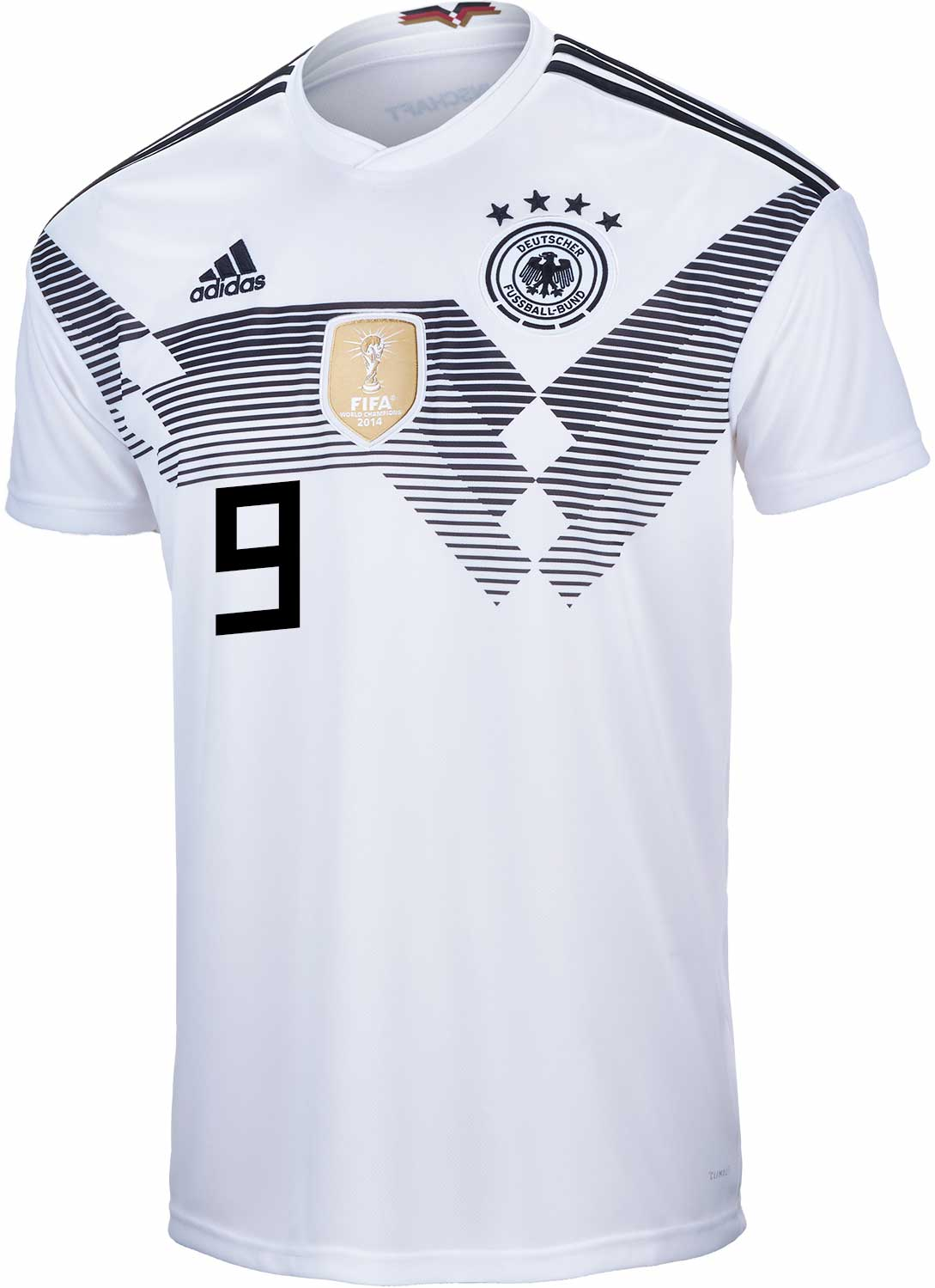 Adidas Germany Jersey 19 Mario Götze WC 2014 home White