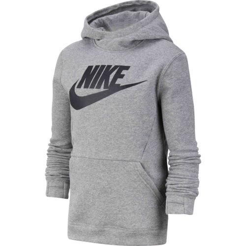 Kids Nike Sportswear Pullover Fleece Hoodie – Dark Grey Heather