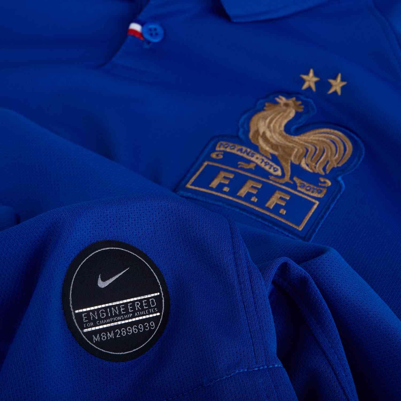 1e9cabd3 Nike France Centennial Home L/S Jersey - Game Royal - SoccerPro