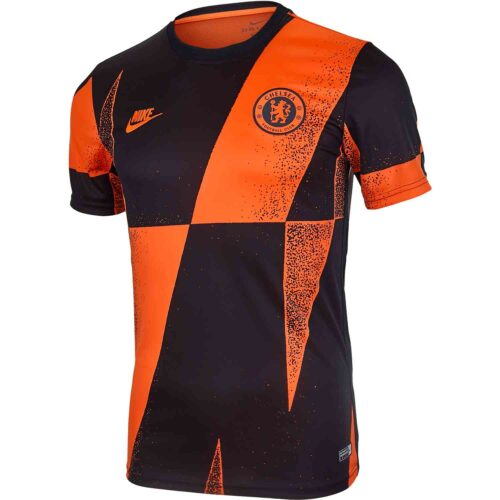 Nike Chelsea Pre-Match Top – Rush Orange/Black/Rush Orange