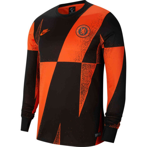 Nike Chelsea L/S Pre-match Top – Rush Orange/Black/Rush Orange