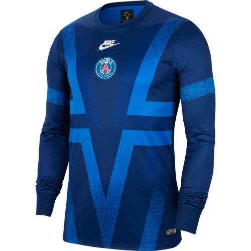 Nike PSG L/S Pre-match Top – Blue Void/Hyper Royal/White