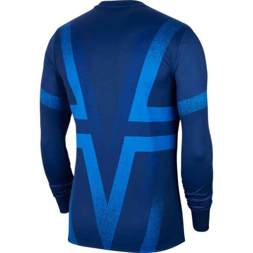 Nike PSG L/S Pre-match Top – Blue Void/Hyper Royal/White