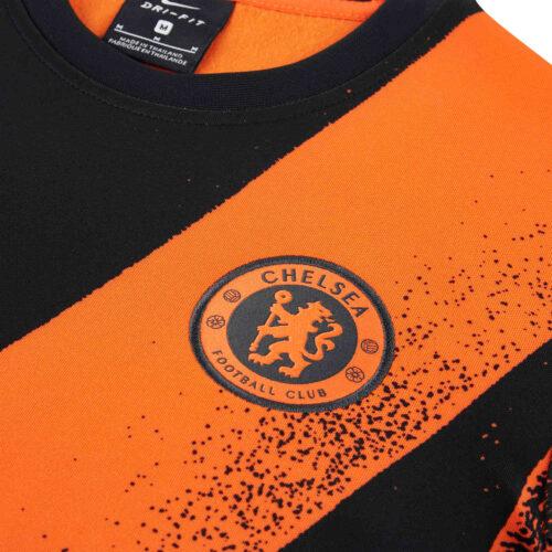 Kids Nike Chelsea L/S Pre-match Top – Rush Orange/Black/Rush Orange