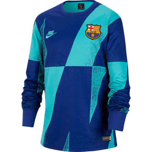 Kids Nike Barcelona L/S Pre-match Top – Cabana/Deep Royal Blue/Cabana
