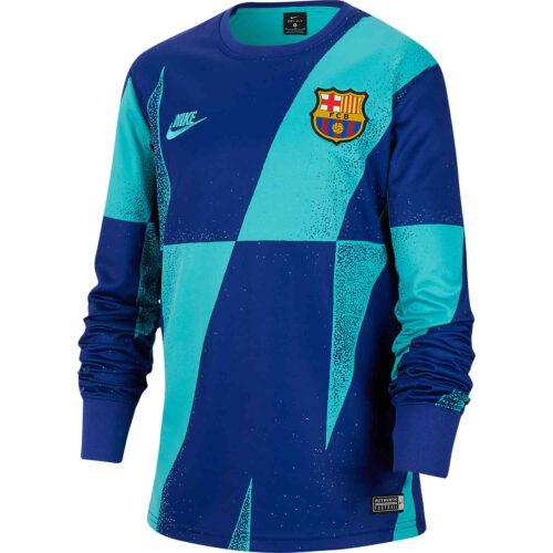 Kids Nike Barcelona L/S Pre-match Top – Cabana/Deep Royal Blue/Cabana
