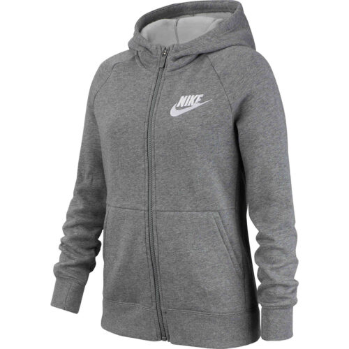 Girls Nike Fleece Full-zip Hoodie – Carbon Heather