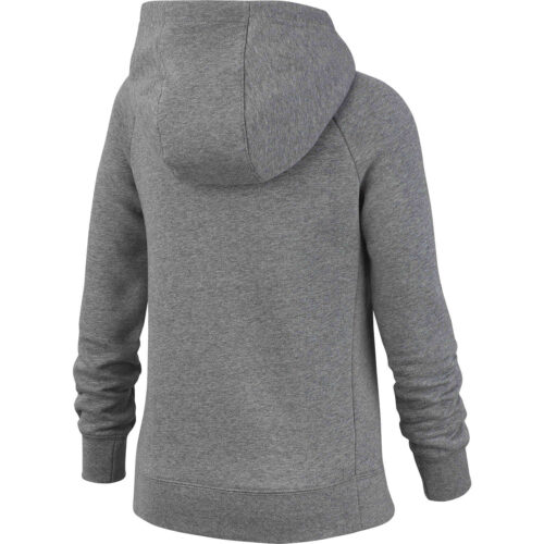 Girls Nike Fleece Full-zip Hoodie – Carbon Heather