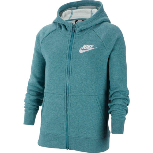 Girls Nike Fleece Full-zip Hoodie – Mineral Teal