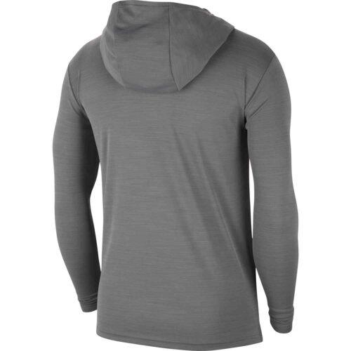 Nike Superset L/S Hooded Training Top – Smoke Grey/Black