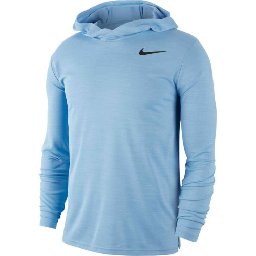 Nike Superset L/S Hooded Training Top – Blue Void/Black