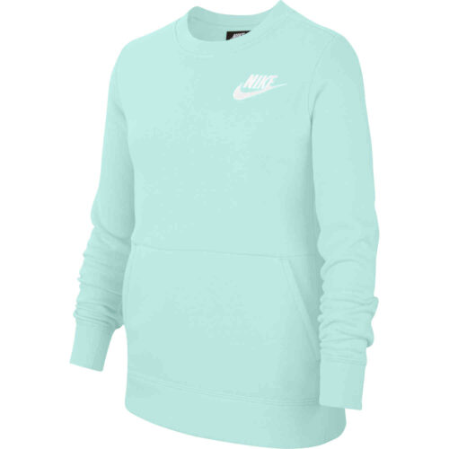 Girls Nike Fleece Crew – Teal Tint