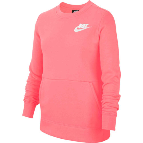 Girls Nike Fleece Crew – Pink Gaze
