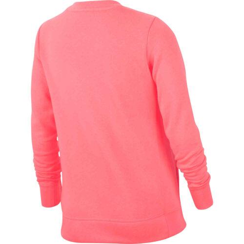 Girls Nike Fleece Crew – Pink Gaze
