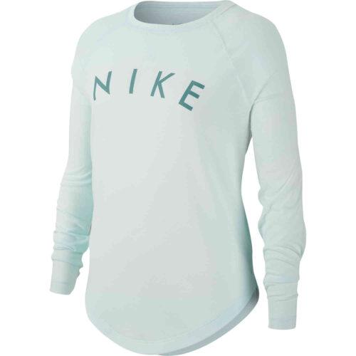 Girls Nike Dri-FIT L/S Tee – Teal Tint/Mineral Teal