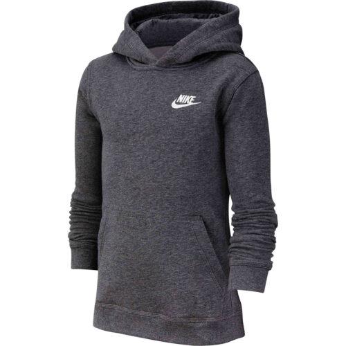 Kids Nike Sportswear Pullover Hoodie – Charcoal Heather