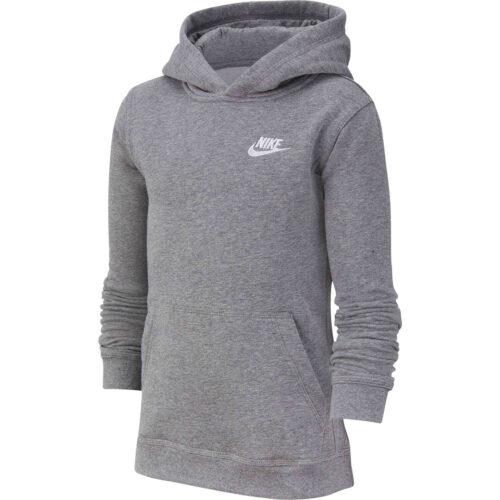 Kids Nike Sportswear Pullover Hoodie – Carbon Heather/White