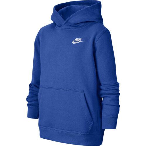 Kids Nike Sportswear Pullover Hoodie – Game Royal/White