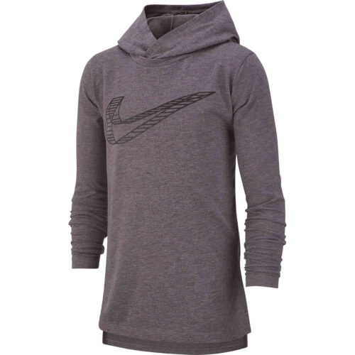 Kids Nike Breathe GFX L/S Hooded Training Top – Gunsmoke