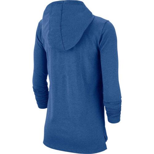 Kids Nike Breathe GFX L/S Hooded Training Top – Mountain Blue