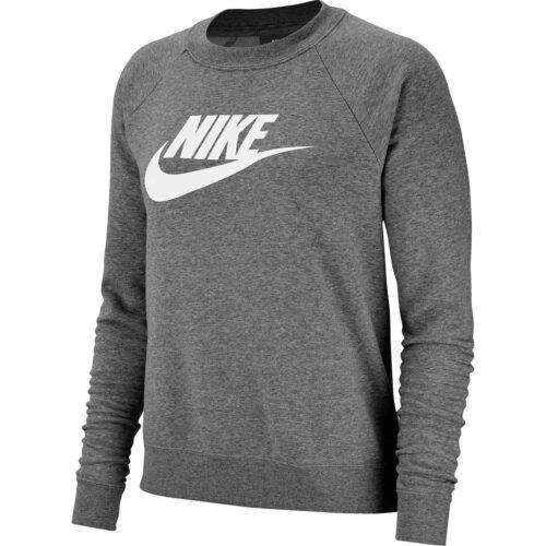 Womens Nike Essential Fleece Crew – Charcoal Heather