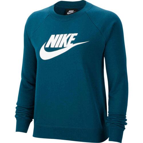 Womens Nike Essential Fleece Crew – Midnight Turquoise