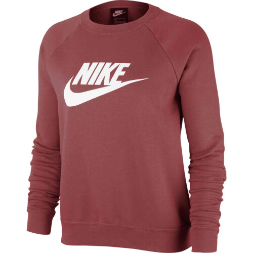 Womens Nike Essential Fleece Crew – Cedar