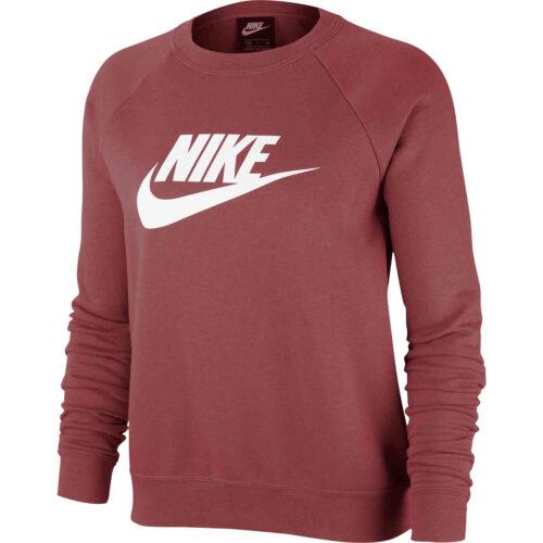 Womens Nike Essential Fleece Crew – Cedar