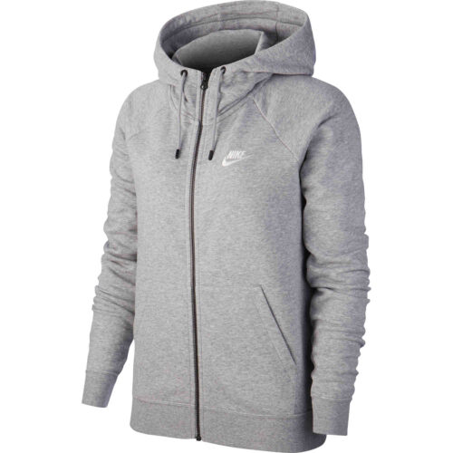 Womens Nike Essential Fleece Full-zip Hoodie – Birch Heather