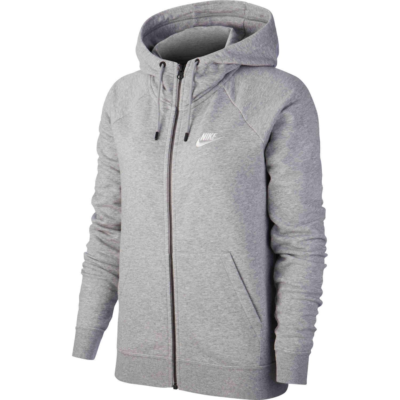 Womens Nike Essential Fleece Full zip Hoodie – Birch Heather
