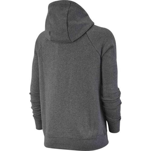Womens Nike Essential Fleece Full-zip Hoodie – Dark Grey Heather
