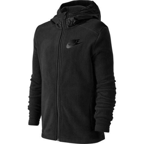 Kids Nike Winterized Full-zip Hoodie – Black