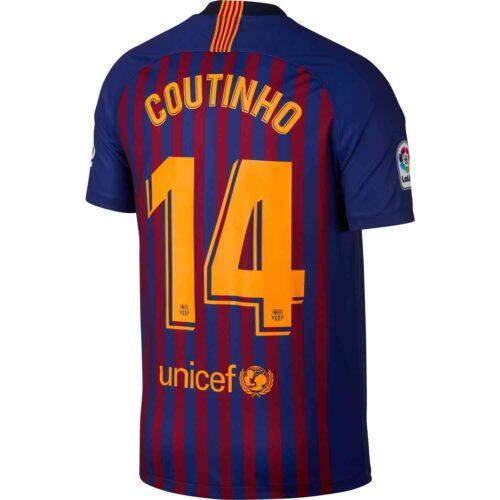 Nike Coutinho Barcelona Home Jersey 2018-19