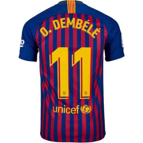 Nike Dembele Barcelona Home Jersey – Youth 2018-19