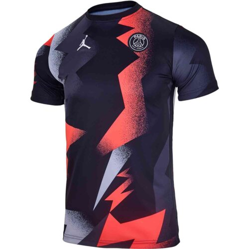 Kids Jordan PSG Pre-Match Top – Black